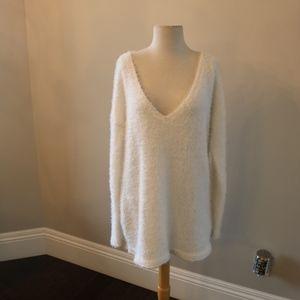 JustFab Sweater Cream Large Soft